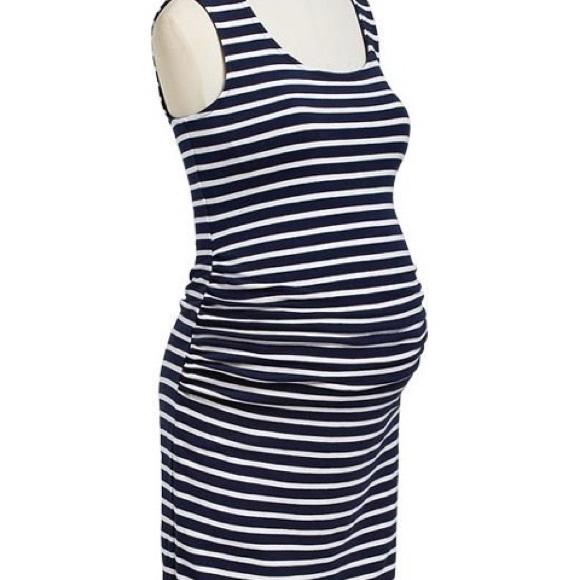 Old Navy Dresses Black And White Striped Maternity Tank Dress Poshmark